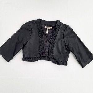 BCBGeneration Black Leather Bolero Jacket